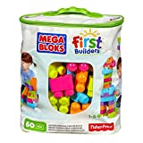 Mega Bloks First Builders Big Building Bag, 60-Piece (Trendy)