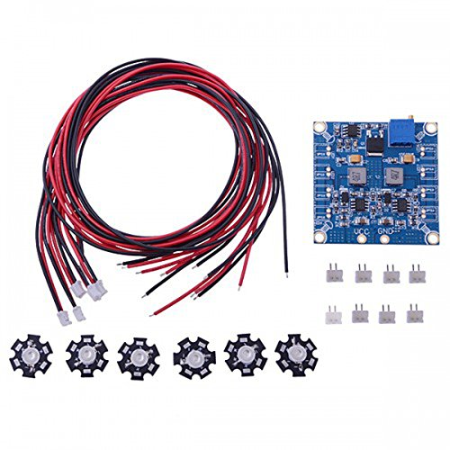 Elecs Rc Led Flashing Light/Night Light W/Led Board And Led Extension Wire For Hexacopter (6 Pcs)