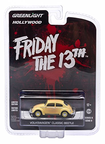 VOLKSWAGEN CLASSIC BEETLE from the 1982 horror film FRIDAY THE 13TH PART III * GL Hollywood Series 9 * 2015 Greenlight Collectibles Limited Edition 1:64 Scale Die Cast Vehicle