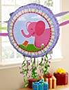 Pink Elephants Pull-String Pinata Party Accessory
