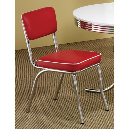 Coaster Home Furnishings Contemporary Dining Chair, Red, Set of 2 0
