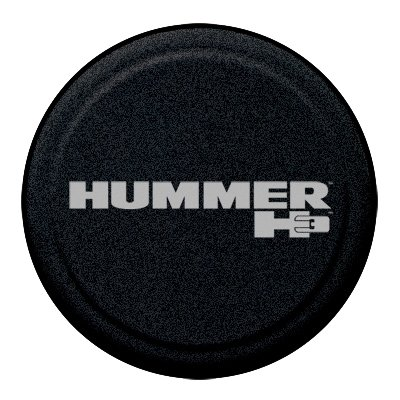 "32"" Hummer H3 Rigid Spare Tire Cover - Hummer H3 Logo - (Hard Plastic Face W/ Fabric Vinyl Band)"