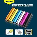 EPCTEK® Mobile PowerBank Portable Battery Charger 2600 MaH iPad, iPad 2/3, iPhone 5, iPhone 4, iPhone 4S, iPod, Blackberry, HTC, Android, Samsung, LG G2 Nexus 4 Optimus G Pro Optimus 4X HD and many more