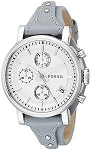 Fossil Women's ES3820 Original Boyfriend Analog Display Analog Quartz Blue Watch