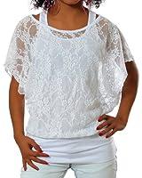 G394 Femmes dames Manches longues shirt 2in1 shirt Tunique