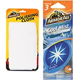 Armor All Combo of Polishing Cloth and Cool Mist Hanging Air Freshener (Pack of 3)