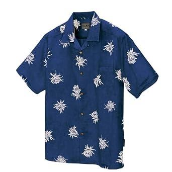 AITOZ(アイトス) | かりゆしシャツ(月下美人)【沖縄産かりゆしウェア】 #AZ-56107
