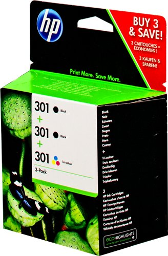 HP 301 extra black combo pack Inkjet Cartridges
