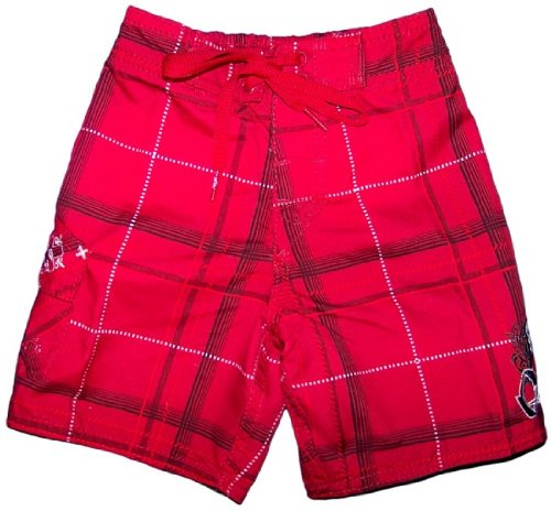 Board Shorts for Kids Quiksilver Childrens Red Tu Culpa Surf Shorts 4T M L