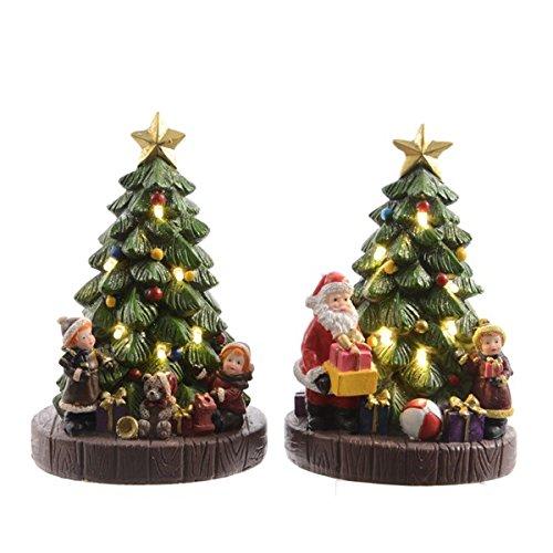 2 LED Weihnachtsbäume mit verschiedenen Motiven thumbnail