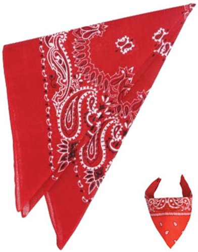 "New Red Cowboy Cowgirl Costume 19"" Bandana Head Scarf"
