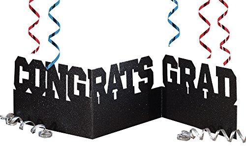Creative Converting Congrats Grad Accordion Glitter Centerpiece - 1