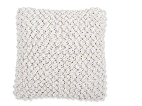 Textilhome - Funda de Cojín TEXTURA 10 - Medida 45x45 cm - Color Beig