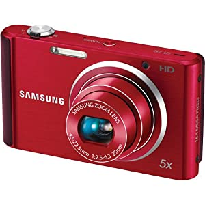 Samsung ST76 16 MP Compact Digital Camera - Red (EC-ST76ZZBPRUS)