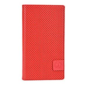 Jo Jo Cover Big Bang Series Leather Pouch Flip Case For Allview A6 Quad Red Black