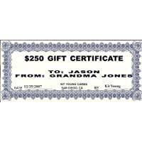 1 - $250 Gift Certificate Kit Young Cards 78893