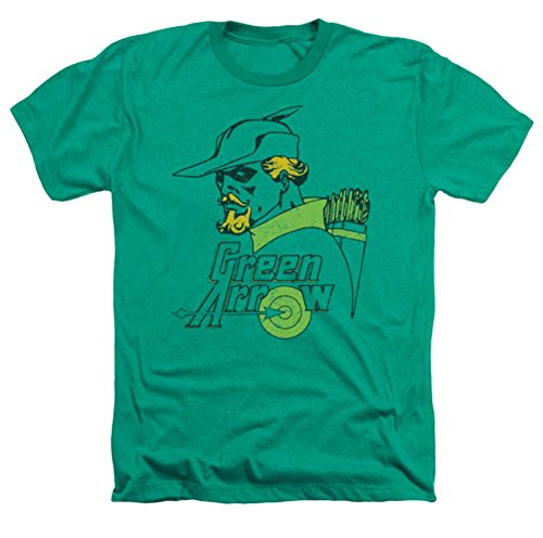 DC Green Arrow Close Up Heather T-Shirt