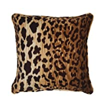 Throw Pillow Decorative for Couch, Sofa Animal Print Brown Leopard 18