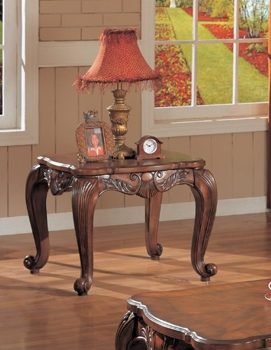 Image of Coaster Venice Traditional Square End Table (B007YK2X04)