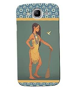 Fuson Nice Girl Back Case Cover for SAMSUNG GALAXY MEGA 5.8 - D3652