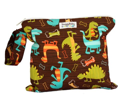 Snuggy Baby Wet Bag - Dino Dudes
