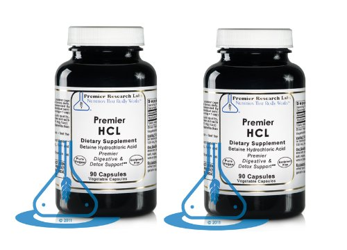 Premier Hcl - 90 Vegetable Capsules - (Pack Of 2)