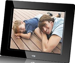 Rollei 4100 Pictureline marco de foto digital (24 cm (10 pulgadas) de pantalla, 4:3, presentación de diapositivas función, Video/MP3 función) con mando a distancia de control de Negro