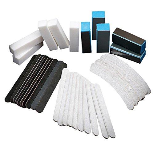 Anboo 40Pcs/Set Nail Art Sanding Files Buffer Block Manicure Tools Pedicure UV Gel Kit (Detailer Light compare prices)