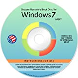 Windows 7 ANY VERSION 64-bit Repair Recovery Restore Re Install Fix Boot Disk DVD