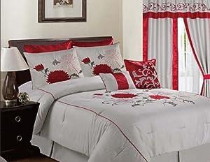 Amazon Com Elegant Comfort 8 Piece Luxury Comforter Set