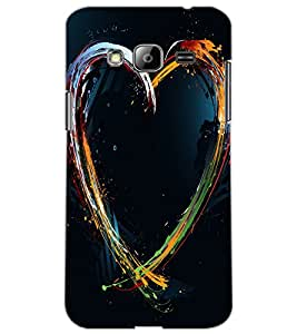 SAMSUNG GALAXY J3 HEART Back Cover by PRINTSWAG