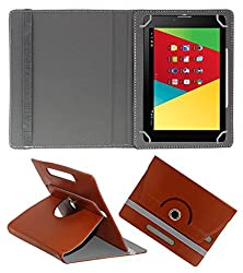 Acm Rotating 360° Leather Flip Case For Mercury M830g Tablet Stand Cover Holder Brown