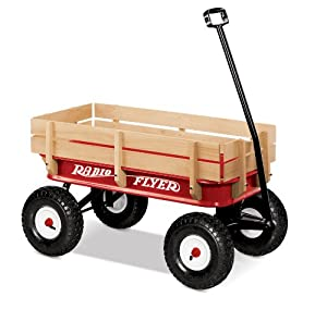 Radio Flyer All-Terrain Steel and Wood Wagon