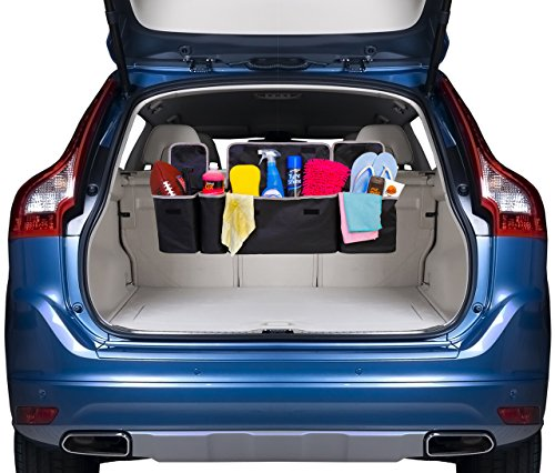 2 in 1 Backseat Car Trunk Organizer by Kodiak| 4 Pocket Car Storage Solution| Vehicle Storage for Childrens Toys/ Tools/ Baby Supplies & Golf Trunk Organizer| SUV & Car Organizer| Auto Accessories (Suv Trunk Organizer compare prices)