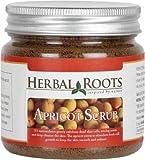 Herbal Roots Apricot Scrub - Anti Blemish, Blackhead Remover And Skin Lightening - 100 gm- MRP-599
