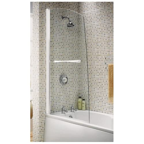 aqualux elite modern half framed sail bath screen