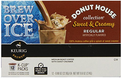 Keurig Donut House Collection, Sweet & Creamy Regular Iced Coffee, K-Cup packs, 12 count, (Pack of 6) (Keurig Coffee Regular compare prices)