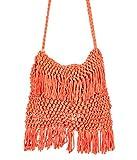Scarves & Glitters Women's Sling Bag Orange (RB147)