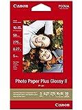 Canon PP-201 - Papel fotográfico, 10 x 15 cm, 50 hojas