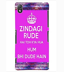 ColourCraft Quote Design Back Case Cover for SONY XPERIA Z3