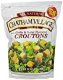 Chathan Village Croutons, Garlic and Butter, 32 Ounce