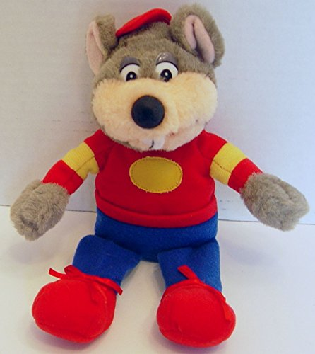 chuck-e-cheese-plush-beanie-mouse-with-red-cap-and-red-shoes-9-tall