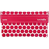 Lunchskins Reusable Snack Size Bag, Berry Dot