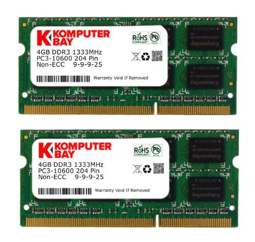 Komputerbay 8Gb (2X 4Gb) Ddr3 Sodimm (204 Pin) 1333Mhz Pc3-10600 (9-9-9-25) Laptop Notebook Memory For Apple Mac Mini