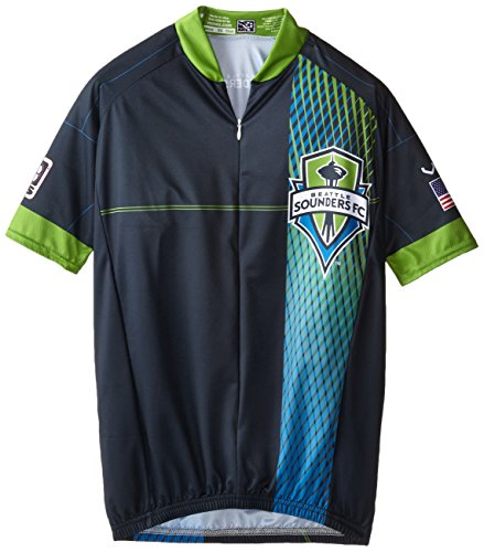 MLS Seattle Sounders Men's Primary Short Sleeve Vomax Jersey, Large (Sounders Cycling Jersey compare prices)