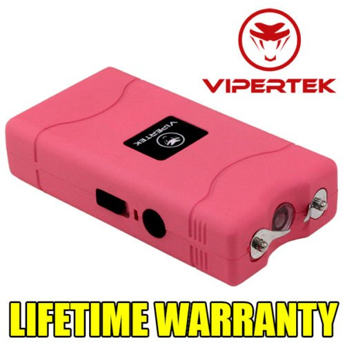VIPERTEK PINK VTS-880 60 MV Rechargeable Police Mini Stun Gun + Taser Case (Guns With Real Bullets compare prices)