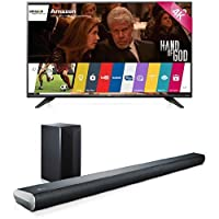 LG Electronics 55UF7600 55-Inch TV with LAS551H Sound Bar by LG