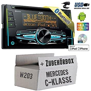 Mercedes classe C W203-JVC KW r920bt-2DIN Bluetooth USB Kit de montage autoradio -