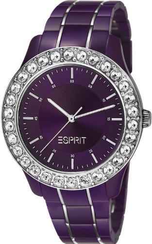Esprit  Blushes - Reloj de cuarzo para mujer, con correa de plástico, color morado