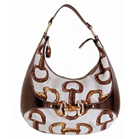 Gucci Handbags (Cream) 152468 Horsebit Senna Amalfi Hobo Bag
